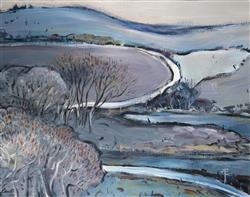 Sale 9093A - Lot 5002 - Gerrard Lants (1927 - 1988) - Winding Road 1978 46 x 58 cm (frame: 69 x 80 x 3 cm)