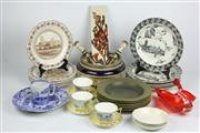Sale 8384A - Lot 24 - Wedgwood Handpainted Cup Saucers (1 AF) with Other Ceramics incl. Wedgwood Dinner Wares