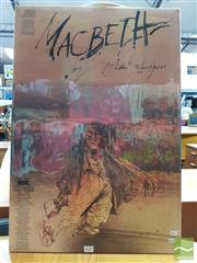 Sale 8421 - Lot 1030 - Vintage and Original Royal Shakespeare Theatre Macbeth Promotional Poster by Ralph Steadman (50cm x 73cm )