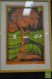 Sale 8528 - Lot 1017 - Vintage Jim Blashfield Framed Poster by Bill Graham