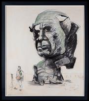Sale 8782A - Lot 63 - Drago Marin Predrag Cherina Australia, 1949, Picasso Study XXII, 1977 Mixed media, signed lower right, 125 x 148 cm