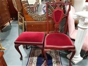 Sale 8822 - Lot 1746 - Victorian Parlour Chair and Stool