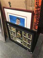 Sale 8841 - Lot 2092 - Framed Jarryd Hayne Eels Action Shots, signed, with a Mark Taylor Signed Poster (2)