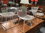 Sale 8859 - Lot 1059 - Set of 4 Bertoia Side Chairs