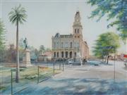 Sale 8938 - Lot 584 - Bill Walls (1940 - ) - Bendigo Post Office, 1988 90 x 120 cm