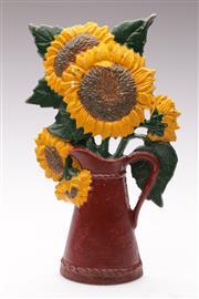 Sale 9060 - Lot 31 - Cast Iron Sunflower Themed Door Stop (H:28cm)
