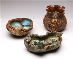 Sale 9114 - Lot 54 - Collection of three Australian studio pottery pieces