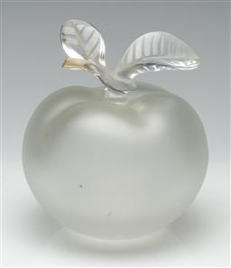 Sale 9211 - Lot 2 - A Lalique Crystal Apple (H:15cm Dia:13cm)