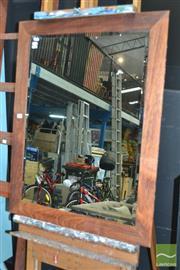 Sale 8440 - Lot 1011 - Timber Framed Bevelled Edge Mirror