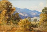 Sale 8583 - Lot 502 - John Downton (1939 - 1991) - Phantasy of Colour, Tumut Valley NSW 24.5 x 35cm