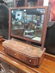 Sale 8868 - Lot 1017 - Late Georgian Inlaid Mahogany Toilet Mirror, the bow front with three drawers