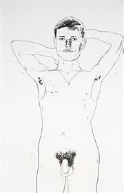 Sale 8992 - Lot 538 - David Hockney (1937 - ) - In an Old Book, 1966 34.5 x 22.5 cm (frame: 70 x 55 x 3 cm)