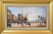 Sale 8358 - Lot 592 - Antoine Blanchard (1910 - 1988) - Street Scene 23 x 43.5cm
