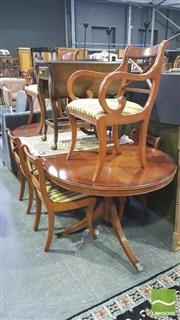 Sale 8383 - Lot 1479 - Seven Piece Dining Suite inc 6 Chairs and Extension Dining Table