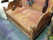 Sale 8424 - Lot 1072 - Balinese Teak Bench Seat