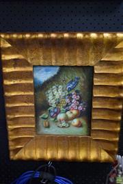 Sale 8592 - Lot 2100 - Gilt Framed - Still Life - on Board