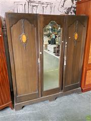 Sale 8601 - Lot 1194 - Large 3 Piece Wardrobe (Missing Crown)