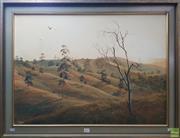 Sale 8600 - Lot 2021 - Danis John Hardy (1940 - 2007) - Landscape, Oil on Canvas, SLL