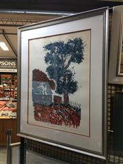 Sale 8752 - Lot 2015 - Pam Case - Blue Landscape no.2 screenprint, ed. 3/14, 81.5 x 66.5cm, signed lower right