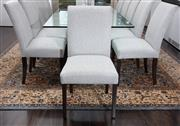 Sale 8782A - Lot 62 - Twelve well upholstered dining chairs each height 96 x width 51cm