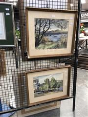 Sale 8784 - Lot 2054 - Pair of Watercolours by Eric Robertson of Narrabeen Lake