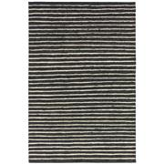 Sale 8912C - Lot 59 - Indian Rustic Jute/Wool Ribbed Carpet in Charcoal, 160x230cm, Handspun Jute & Wool