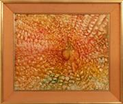 Sale 9071H - Lot 26 - Julie Chapman - Abstract Sunburst Signed and Date 1974 lower right