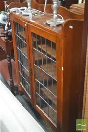 Sale 8284 - Lot 1039 - Display Cabinet w Leadlight Doors