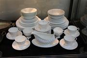 Sale 8327 - Lot 72 - Royal Tuscan Whitecliffe Dinner Wares with Similar Pattern Royal Grafton