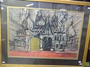 Sale 8557 - Lot 2026 - Artist Unknown Opera Australia: Boris Godunov, 1966 (Set Scene), ink and watercolour, 73.5 x 96cm, signed and dated lower right