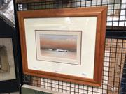 Sale 8816 - Lot 2012 - Rex Newell - Outback Scene with Cottage oil on canvas board, 13 x 22cm, signed lower left