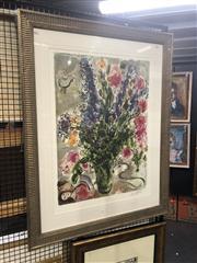 Sale 8824 - Lot 2037 - Marc Chagall, colour lithograph ed. 419/500 113 x 88cm (frame), facsimile signed