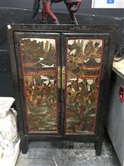 Sale 8851 - Lot 1011 - Chinese 2 Door Cabinet with Market Scene