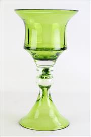 Sale 8860 - Lot 30 - Coloured Green Glass Vase H: 33cm