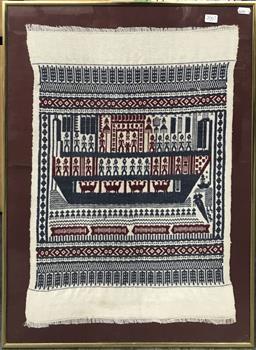 Sale 9103 - Lot 2067 - Vintage Tribal Tapestry, 68 x 52 cm (frame) -