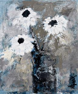 Sale 9161A - Lot 5092 - LEENE AAVIK - Drawing Room Flowers 60 x 49.5 cm