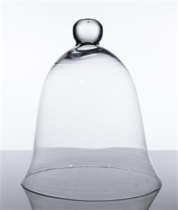 Sale 9255H - Lot 93 - A bell form glass cloche, Height 33cm, small chip to rim.