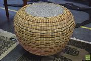 Sale 8390 - Lot 1305 - Round Wicker Coffee Table
