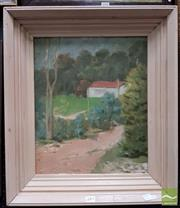 Sale 8474 - Lot 2005 - Dorothy Allen Edwards (1907 - XXI) - Hidden Cottage 44.5 x 36.5cm