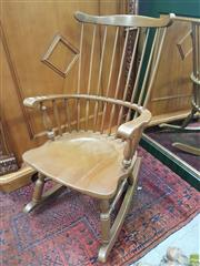 Sale 8601 - Lot 1311 - Timber Rocking Chair