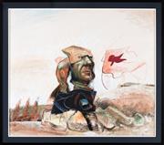Sale 8782A - Lot 64 - Drago Marin Predrag Cherina, Australia, 1949 Picasso Study XXVI Mixed media on paper, signed lower right, 148 x 125 cm