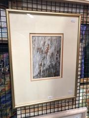 Sale 8811 - Lot 2019 - John Caldwell (1942-) - Hillside, mixed media , 22.5 x 15.5cm, signed lower left