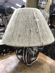 Sale 8822 - Lot 1591 - Bamboo Theme Table Lamp