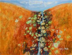 Sale 9093A - Lot 5001 - Terry Watts (1934 - ) - Kimberley Waterfall 48 x 62 cm (frame: 70 x 83 x 3 cm)