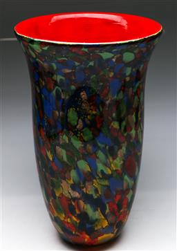 Sale 9138 - Lot 53 - A Large Art Glass Vase With Red Interior (H: 43cm)