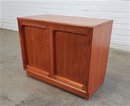 Sale 9151 - Lot 1051 - Teak 2 door cabinet (h:64 x w:79 x d:45cm)