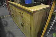 Sale 8361 - Lot 1059 - Recycled Chess Patterned Sideboard