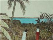 Sale 8606 - Lot 543 - Ray Austin Crooke (1922 - 2015) - Palm Island Scene 21.5 x 29.5cm
