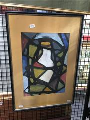 Sale 8752 - Lot 2006 - 60s Abstract Expressionist Painting by an Unknown Artist, signed and dated 1961 lower right