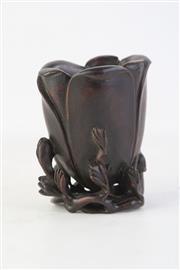 Sale 8815C - Lot 68 - Carved Sandlewood Libation Cup ( H 12cm)